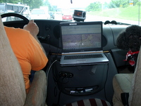 Laptop with GPS and mappoint software