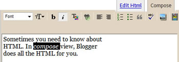 Blogger's Compose View